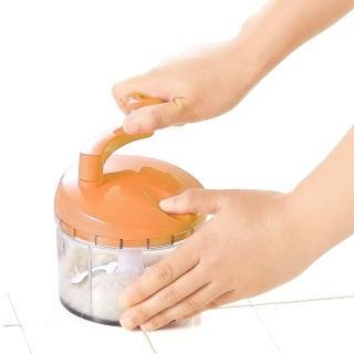 【日本製造】Shimomura漾彩蔬果研磨絞碎器(鮮紅橘)