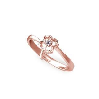 【大東山珠寶】純銀幸運戒指(玫瑰金)