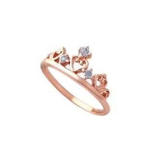 【大東山珠寶】純銀浪漫皇冠戒指(玫瑰金&銀)