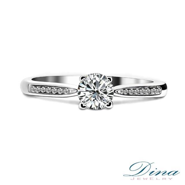 【DINA JEWERLY蒂娜珠寶】GIA0.30克拉 F 鑽石戒指(巴洛克 系列)