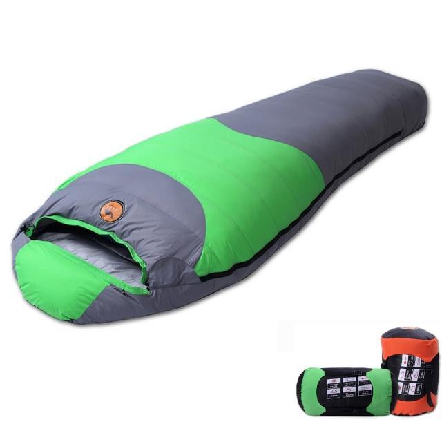 【PUSH! 登山戶外用品】1500G白鴨絨蓬鬆度為600專業型超值可拼接全開羽絨睡袋一入(一入 多色可選)