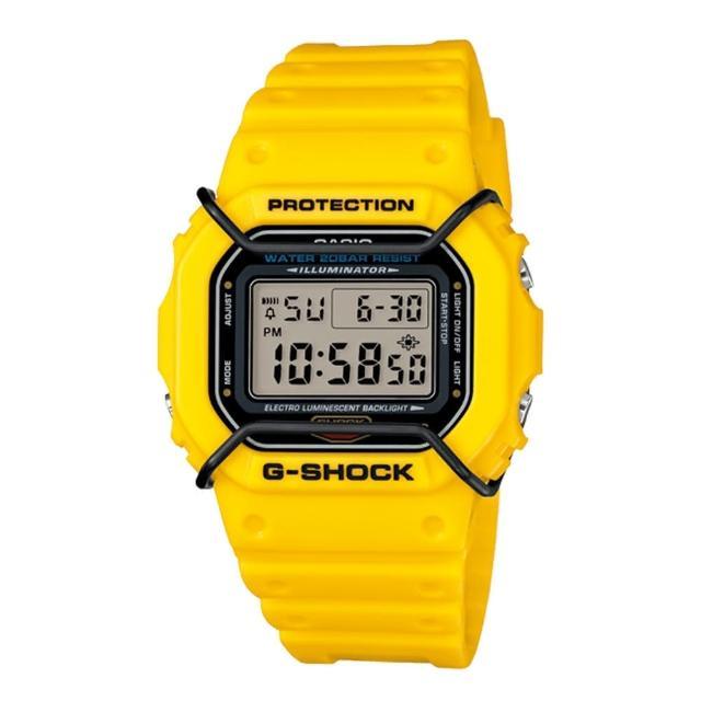 【CASIO 卡西歐 G-SHOCK 系列】日系限量版-復古 防撞 運動中性錶(DW-5600P)