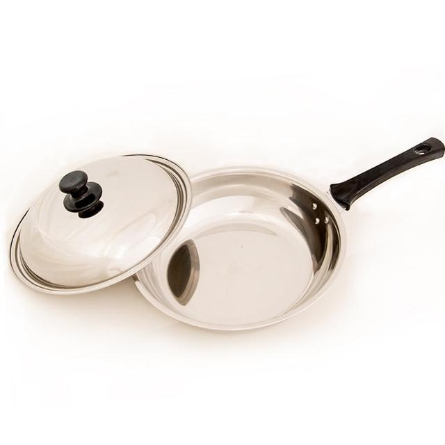 【台灣好鍋-加賀系列】七層不鏽鋼平底鍋(28cm)