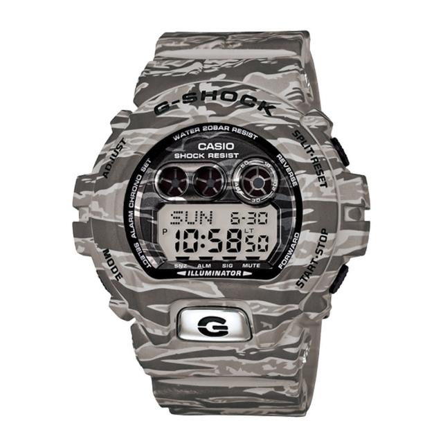 【CASIO 卡西歐 G-SHOCK 系列】全日製限量版-叢林計畫迷彩版運動錶(GD-X6900TC)