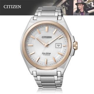 【CITIZEN 星辰】光動能 輕巧、防鏽的鈦金屬 藍寶石男錶(BM6936-51A)