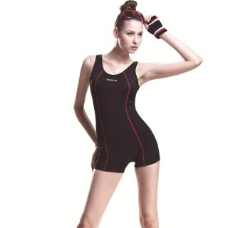 【SARBIS】MIT泡湯SPA大女連身四角泳裝(附泳帽B95247)