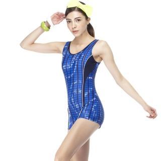 【SARBIS】MIT大女連身四角泳裝(附泳帽B95403)