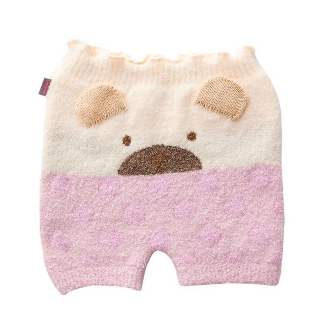 【奇哥】超柔舒小熊保暖褲(粉紅)