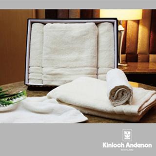 【金安德森】有機棉毛巾禮盒(浴巾*1、毛巾*2、方巾*2)