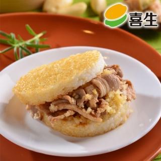 【鮮食家任選799】喜生 和風薑燒豬米漢堡(160g*3入/盒)