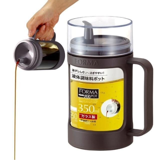 【日本ASVEL】油控式350ml調味油手提玻璃壺(咖啡色)