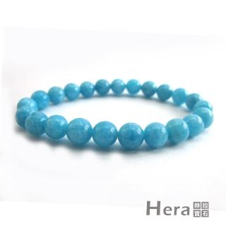 【Hera】頂級冰沁海水藍寶手珠(8mm)