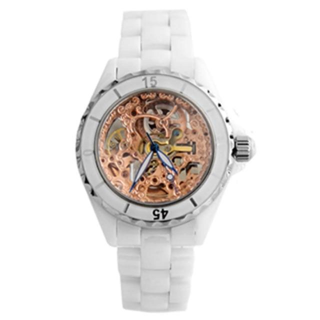 【范倫鐵諾˙古柏】高精密全陶瓷自動上鍊機械手錶腕錶
