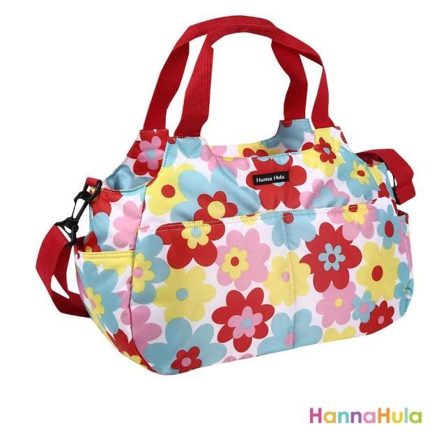 【日本Hanna Hula】棉花糖二用媽媽包/空氣包(花樣紅)