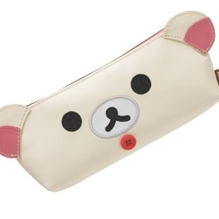 【San-X】拉拉熊皮革懶熊系列筆袋包(懶妹)