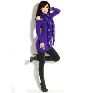 【韓依 HANN.E】台灣製顯瘦版竹炭聚熱立體絨毛保暖雕塑褲(百搭時尚麻花紋款G83B3)