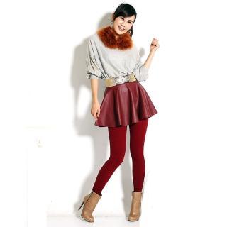 【韓依 HANN.E】台灣製顯瘦版竹炭聚熱立體絨毛保暖雕塑褲(百搭時尚魅力紅G83R)