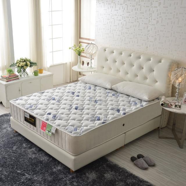【睡芝寶】頂級天絲棉+乳膠抗菌蜂巢獨立筒床(雙人加大6尺)