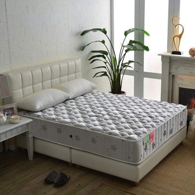【睡芝寶】飯店級乳膠竹碳紗蜂巢獨立筒床(雙人加大6尺)