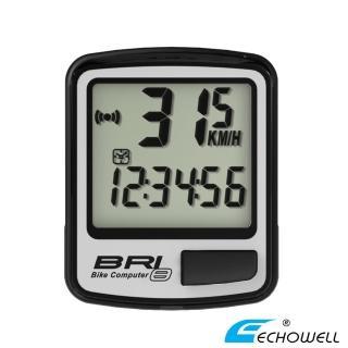【ECHOWELL】BRI-8 多功能自行車有線碼錶(銀)