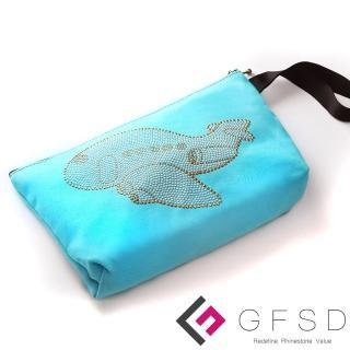 【GFSD璀璨水鑽精品】選擇飛翔(來去旅行系列飛機手提萬用化妝包)