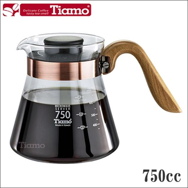 【Tiamo】木把古銅環玻璃壺 750cc(HG2200)