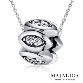 【Majalica】純銀項鍊 神祕之眼 925純銀 鋯石 PN4022(銀色)