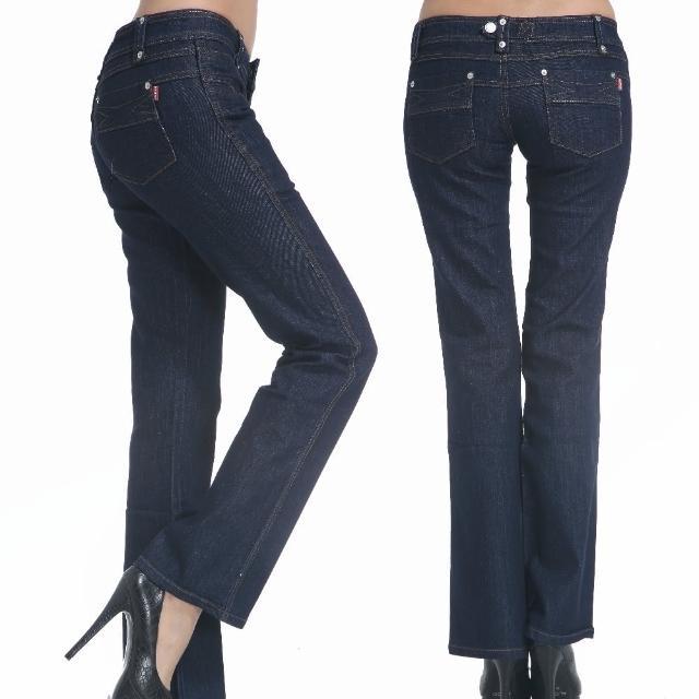 【RH】日系中低腰最新顯瘦小喇叭牛仔褲(牛仔深藍全尺碼最後到貨)
