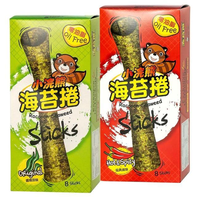 【小浣熊】零油脂 海苔捲 8支/盒(醬燒原味/經典辣味 任選)