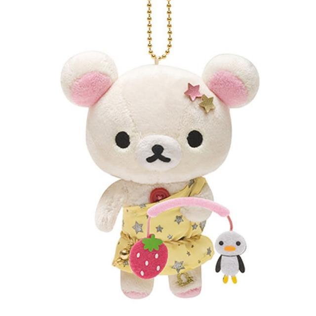 【San-X】拉拉熊12星座毛絨公仔吊飾(懶妹天秤座)