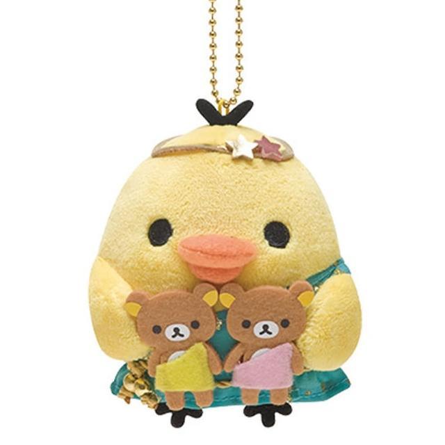 【San-X】拉拉熊12星座毛絨公仔吊飾(小雞雙子座)