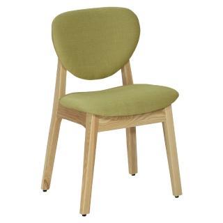 【東京家居】歐格栓木實木餐椅(綠色)
