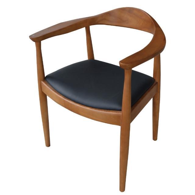 【東京家居】日居栓木實木扶手餐椅(胡桃色)