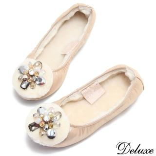 【Deluxe】平底娃娃鞋(珠寶暖洋洋系列   金)