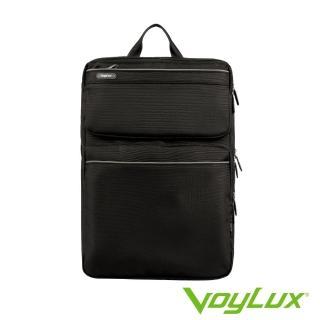 【VoyLux伯勒仕】防潑水多隔層設計 雙肩大後背包 / 電腦包(黑色-3280104)