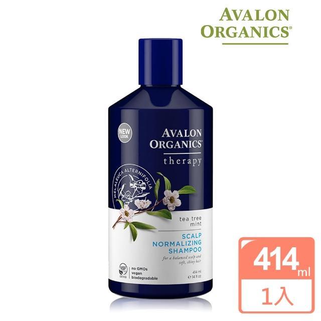 【AVALON ORGANICS】茶樹薄荷頭皮調理精油洗髮精(414ml/14oz)