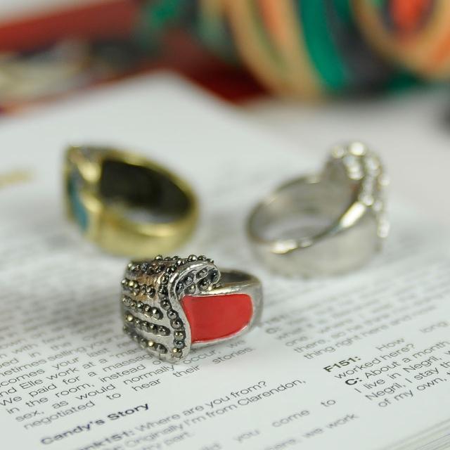 【Lady c.c.】韓式量感質晶美鑽戒指(3色)