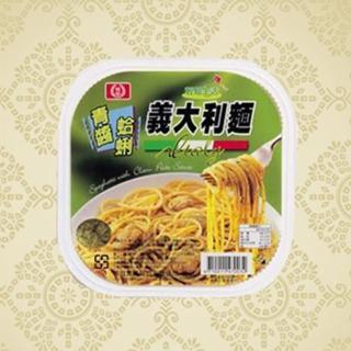 【鮮食家任選799】桂冠青醬蛤蠣義大利麵(330g/盒)