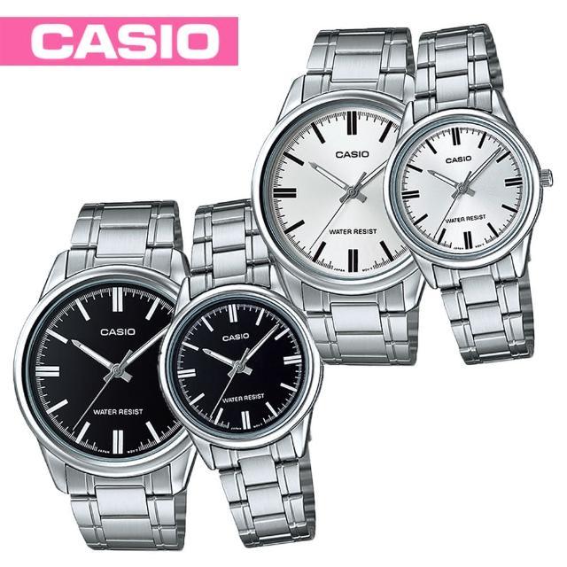 【CASIO 卡西歐】送禮首選-甜蜜情侶浪漫對錶(MTP-V005D+LTP-V005D)網路熱賣