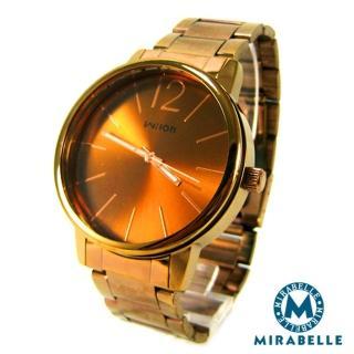 【Mirabelle】典藏光芒*大框金檳鎢鋼錶