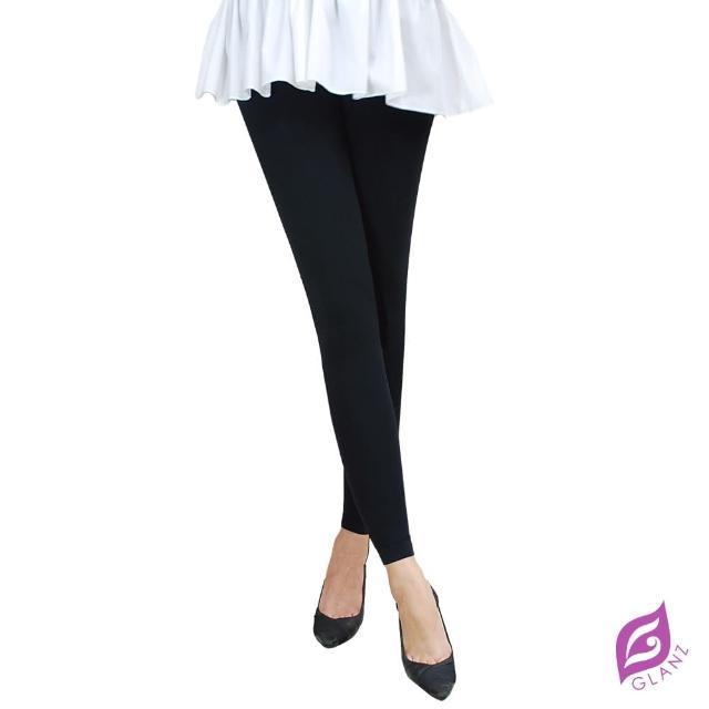 【GLANZ 格蘭絲】300丹厚織內起絨九分顯瘦褲襪(激瘦黑)
