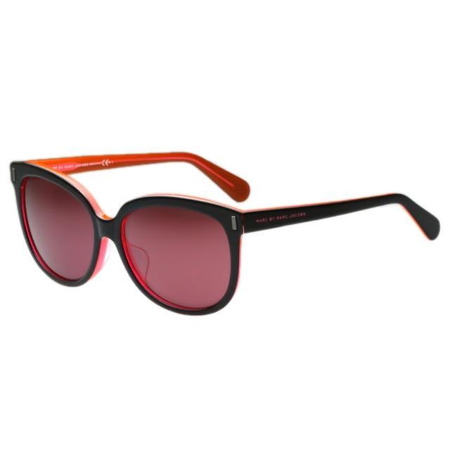 【MARC BY MARC JACOBS】-反光鏡面 太陽眼鏡(黑色)