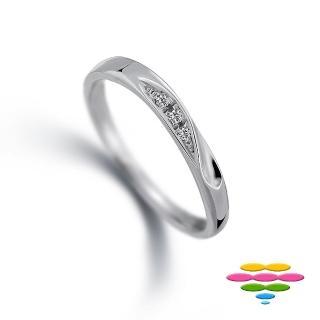 【彩糖鑽工坊】小確幸系列 鑽石戒指(10K白 CL-RD141)