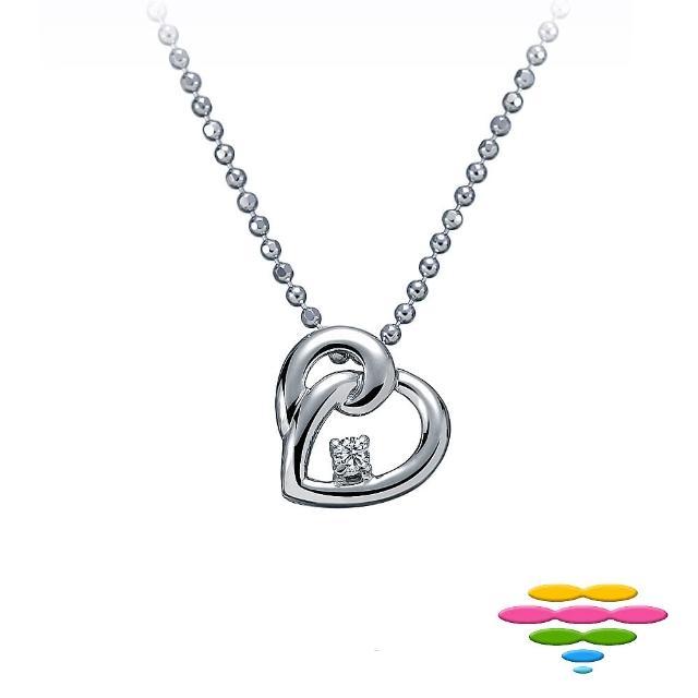 【彩糖鑽工坊】永結同心系列 18K鑽石項鍊(CL-PD62)