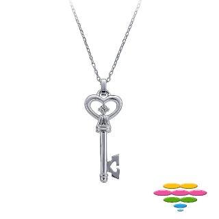 【彩糖鑽工坊】小確幸系列 KEY鑽石項鍊(10K白 CL-PD157)