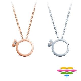 【彩糖鑽工坊】Jennie系列 鑽石項鍊(CL-PD123)