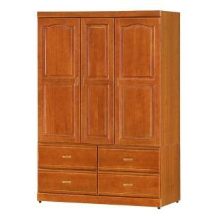 【Bernice】紐松4尺衣櫃(兩色可選)