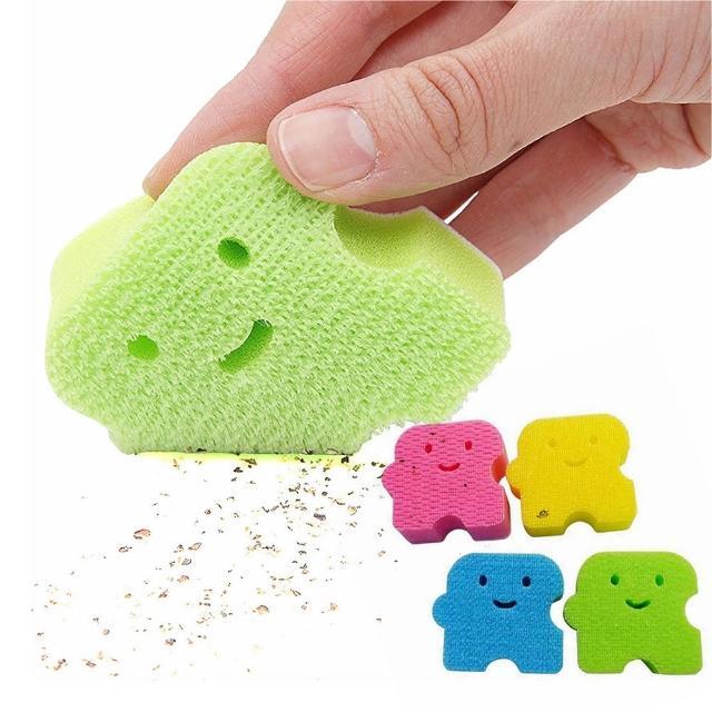 【日本製造AISEN】黏貼式超極細人偶海綿刷(2包裝)