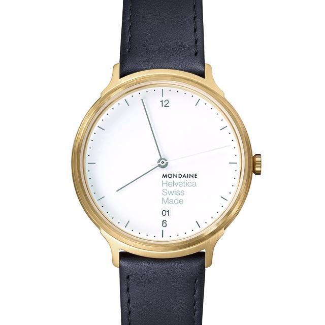 【MONDAINE瑞士國鐵】設計系列腕錶(金/38mm)