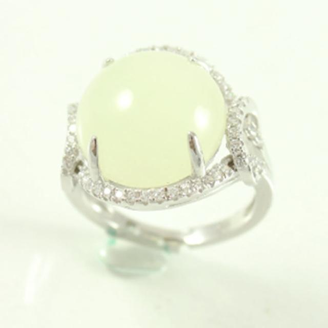 【金玉滿堂】絕代風華和闐羊脂白玉戒指(活圍)